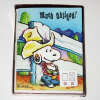 Cowboy Snoopy Thank You Cards