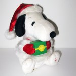 Animated Santa Snoopy Plush Doll