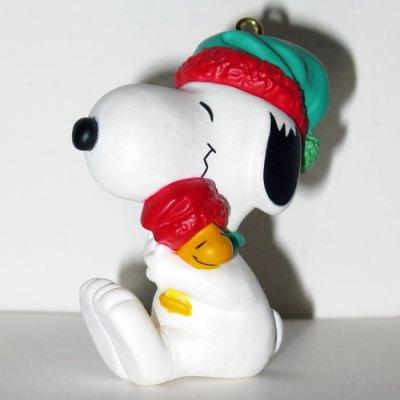 Snoopy hugging Woodstock Ornament