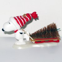 Snoopy pulling Sled with Tree Ornament