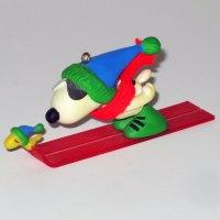 Snoopy Ski Jump Ornament