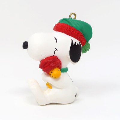 Snoopy hugging Woodstock Ornament