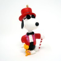 Snoopy Joe Cool in Top Hat and Tux Ornament