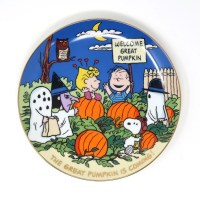 The Great Pumpkin is Coming Peanuts Plate