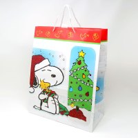 Snoopy, Woodstock and Charlie Brown Christmas Gift Bag