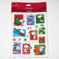Snoopy & Woodstock Christmas Stickers