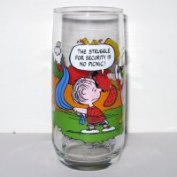 Linus Security McDonald's Camp Snoopy Glass
