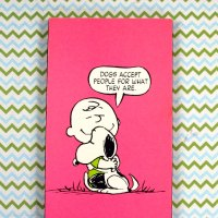 Snoopy & Charlie Brown hugging Plaque