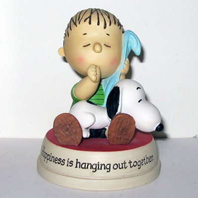 Snoopy & Linus with Blanket Figurine
