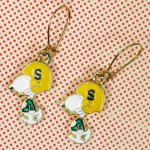 Snoopy Football Earrings