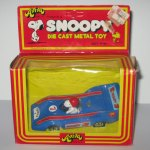 Snoopy in Blue Formula 1 Race Car