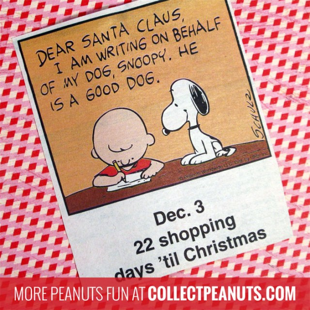 Peanuts Christmas Countdown - December 3