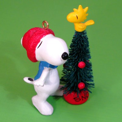 Snoopy, Woodstock and Christmas Tree Ornament