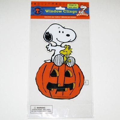 Snoopy and Woodstock Halloween Window Gel Cling
