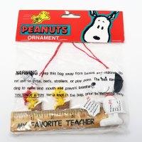Snoopy & Woodstock Teacher Christmas Ornament