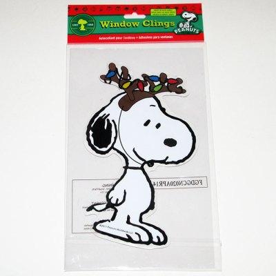 Snoopy Reindeer Christmas Gel Cling