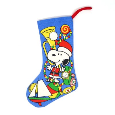 Santa Snoopy with Toys Christmas Stocking