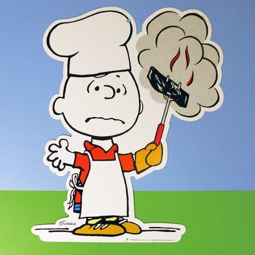 Charlie Brown Grilling Signage