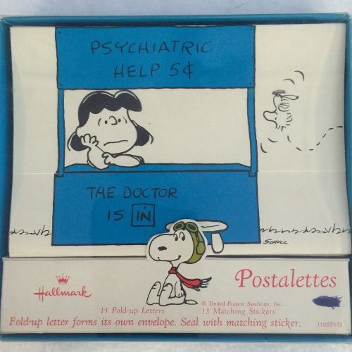 Lucy and Snoopy Postalettes by Hallmark