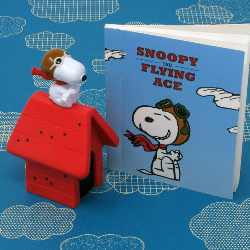 Snoopy the Flying Ace Figurine and Book
