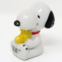 Snoopy sitting with Woodstock Paperweight
