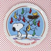 Snoopy 1980 Christmas Plate