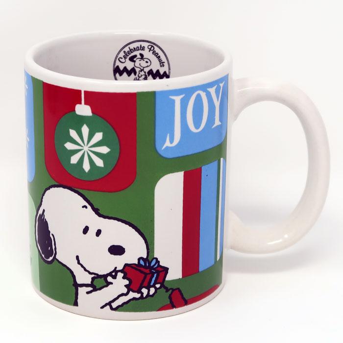 SNOOPY CHRISTMAS MUG ~ /'GIVE JOY/' ~ NEW!