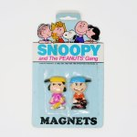 Lucy & Charlie Brown Baseball Magnets