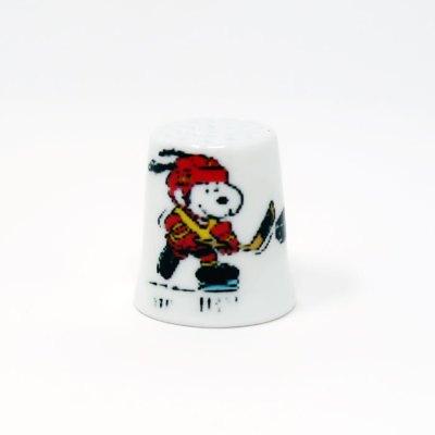 Hockey Snoopy Thimble