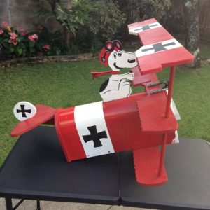 Snoopy Red Baron Mailbox