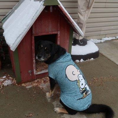 Rosa wearing the Jade Charlie Brown and Snoopy Hug Hoodie Sweatshirt