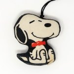 Snoopy wearing bow tie Stuffed Mini Mascots Ornament