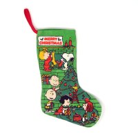 Peanuts Gang Decorating Christmas Stocking
