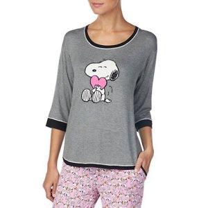 Snoopy Valentine's Day sleepwear from Dillard's