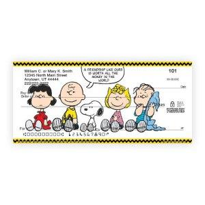 Peanuts Personal Checks from Bradford Exchange Checks