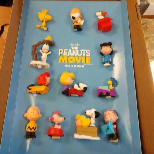 The Peanuts Movie McDonald's Toys Display