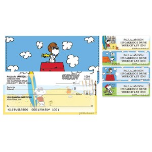 Peanuts Personal Checks from Checks in the Mail