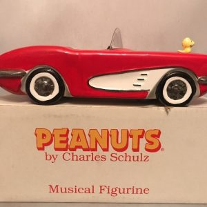 Snoopy Corvette Musical Figurine