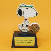 Snoopy Tennis Player Trophy