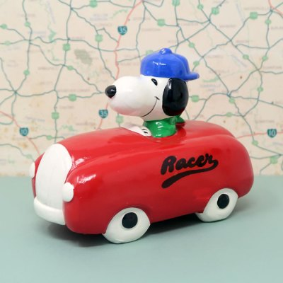 Snoopy Racer Car Bank