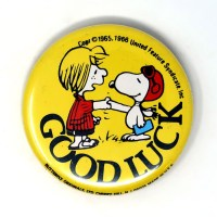 Peppermint Patty and Snoopy Flying Ace Button
