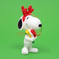 Snoopy Reindeer hugging Woodstock Ornament