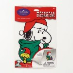 Santa Snoopy Moveable Decoration