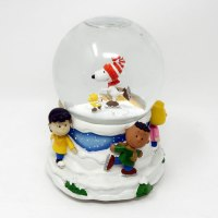 Peanuts Gang Skating Christmas Musical Waterglobe