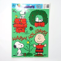 Snoopy & Charlie Brown 'Happy Holidays' Window Cling Sheet