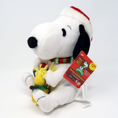 Christmas Lights Snoopy & Woodstock Animated Plush