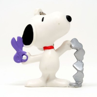Snoopy Cutting Silver Heart Chain Valentine's Day PVC Keychain