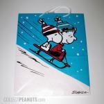 Snoopy and Linus on sled Christmas Gift Bag