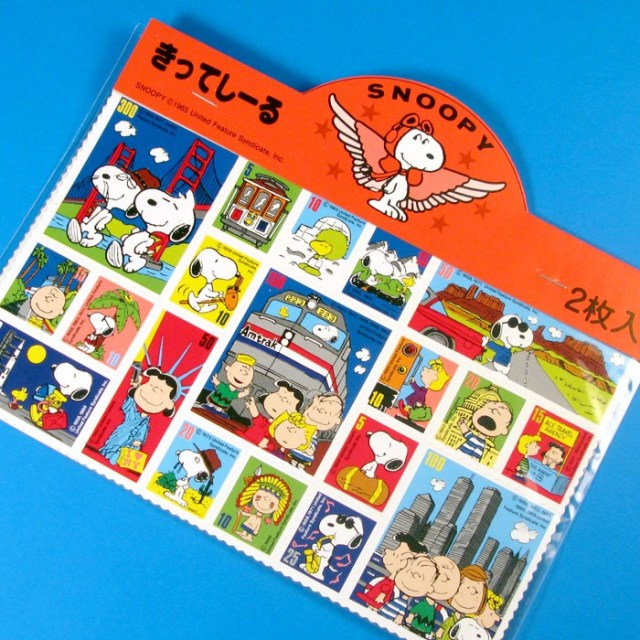 Peanuts travel stickers