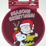 Snoopy, Woodstock & Charlie Brown 'Seasons Greetings' Gift Card Tin